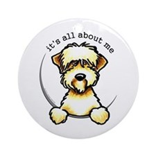 Funny Wheaten Terrier Ornament (Round)