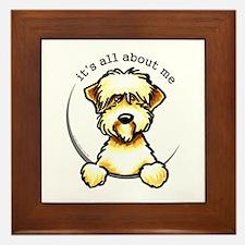 Funny Wheaten Terrier Framed Tile