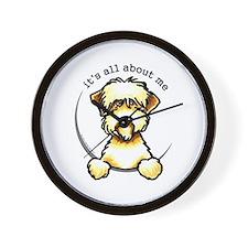 Funny Wheaten Terrier Wall Clock