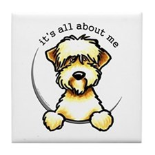 Funny Wheaten Terrier Tile Coaster