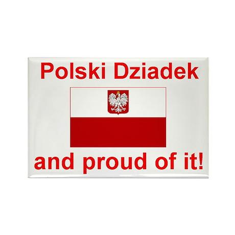 "Polish Dziadek (Grandfather) Magnet (3""x2"")"
