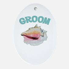 Island Groom Ornament (Oval)