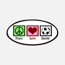 Peace Love Soccer Patches