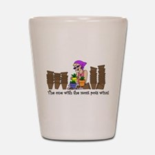 The One With The Most Pots Wi Shot Glass