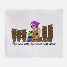 The One With The Most Pots Wi Throw Blanket