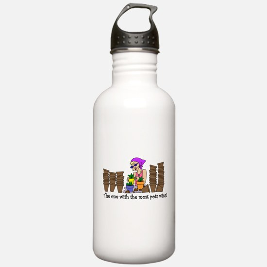 The One With The Most Pots Wi Water Bottle