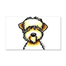 Funny Wheaten Terrier Car Magnet 20 x 12