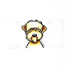 Funny Wheaten Terrier Aluminum License Plate