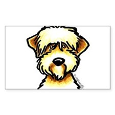 Funny Wheaten Terrier Decal