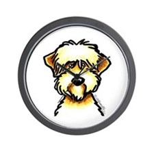 Funny Wheaten Terrier Wall Clock