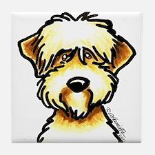 Funny Wheaten Terrier Tile Coaster