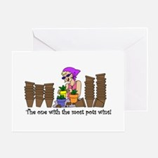 The One With The Most Pots Wi Greeting Card