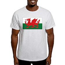 Wales Flag Ash Grey T-Shirt