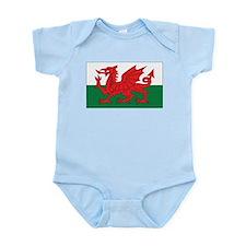 Wales Flag Infant Creeper
