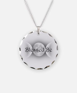 Blessed Be (triple crescent) Necklace