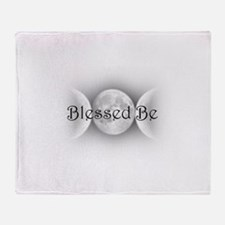 Blessed Be (triple crescent) Throw Blanket