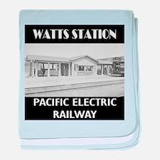 Watts Station baby blanket