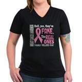 My real ones tried to kill me Womens V-Neck T-shirts (Dark)