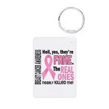 Yes They're Fake Breast Cancer Keychains