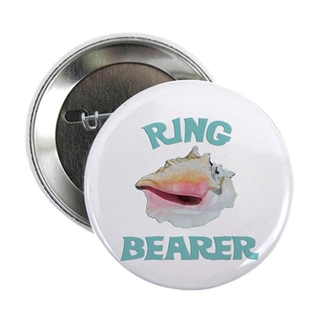 """Beach Wedding Ring Bearer 2.25"""" Button"""
