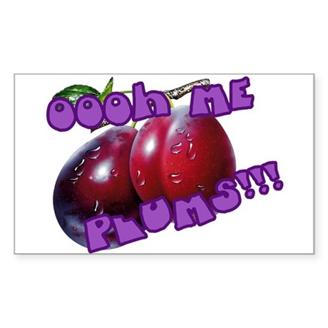 Oooh Me Plums!!! Sticker (Rectangle)