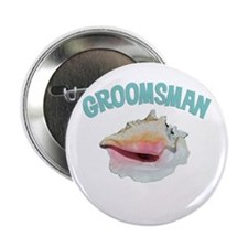 "Island Groomsman 2.25"" Button"