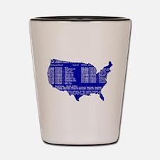 USA Blue Screen Shot Glass