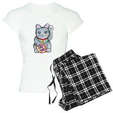 Lucky Cat Maneki Neko Pajamas