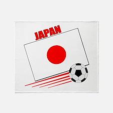 Japan Soccer Team Throw Blanket
