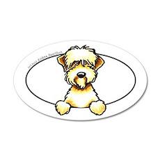 Funny Wheaten Terrier 22x14 Oval Wall Peel