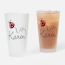 Ladybug Karen Drinking Glass