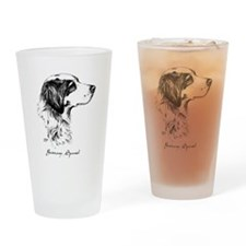 Brittany Spaniel Drinking Glass