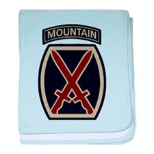 10th Mountain Division ACU baby blanket