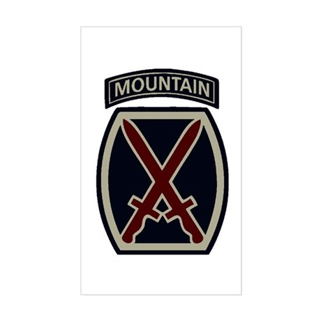 10th Mountain Division ACU Sticker (Rectangle)