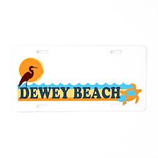 Dewey Beach DE - Beach Design Aluminum License Pla