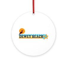 Dewey Beach DE - Beach Design Ornament (Round)