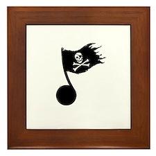Music Pirate Framed Tile