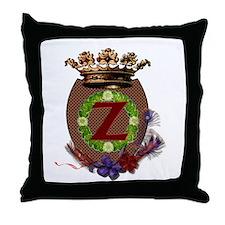 Z Crest Throw Pillow