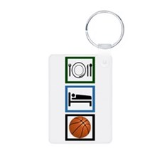 Eat Sleep Basketball Keychains