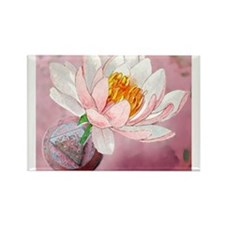 Lotus Serenity Rectangle Magnet (10 pack)