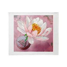 Lotus Serenity Throw Blanket