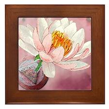 Lotus Serenity Framed Tile