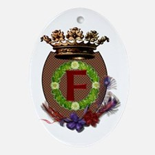 F Crest Ornament (Oval)