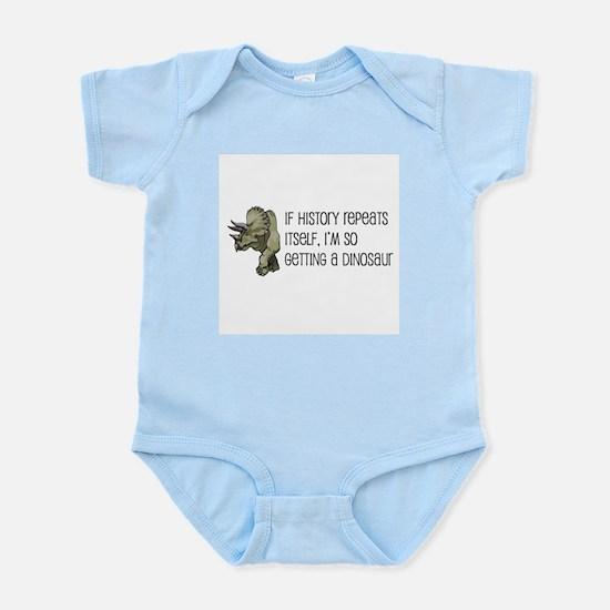 History Repeats Dinosaur Pet Infant Bodysuit