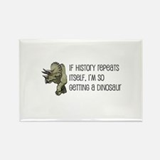 History Repeats Dinosaur Pet Rectangle Magnet