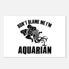 Don't blame me I'm Aquarian Postcards (Package of