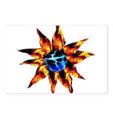 Lava Bloom Sapphire Ice Pisti Postcards (Package o