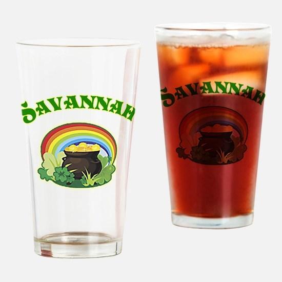 Savannah Georgia Irish Drinking Glass