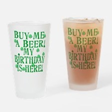 Buy Me a Beer Irish Birthday Drinking Glass