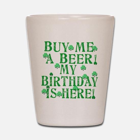 Buy Me a Beer Irish Birthday Shot Glass
